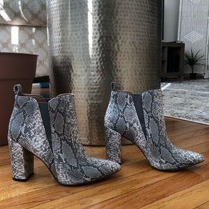 BCBGMaxazria Snakeskin Ankle Boot
